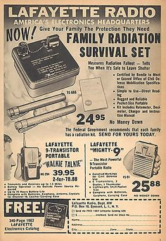 Family Radiation Survival Set - Are you serious?! Thank goodness no one ever had to use this dodgy item.