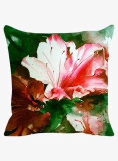 Buy Leaf Designs Multicoloured Coloured Cushion Cover Online India, Best Prices, Reviews   LE915HO50LXTINDFAS