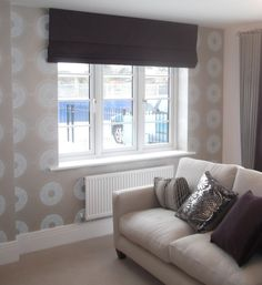 Accent wall and Roman Blind