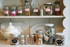 Getting organized with jars and labels