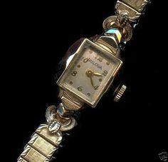 Super edle BULOVA 10 Karat Gold Plated Armbanduhr 10K Armband 50er Jahre