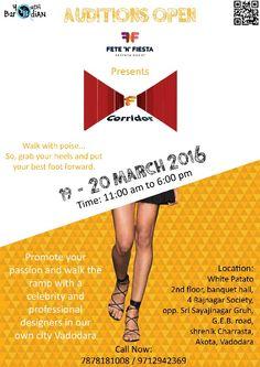 F Corridor FashionShow Event 2k16    #Vadodara #Baroda #FnFEntertainment  For Registration - 7046222217 OnlinePartner - #YouthBarodian