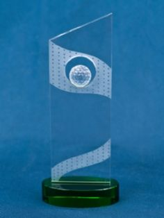 On The Green - Sports Crystal Awards by Eclipse Awards. Golfing on the Green. Clear optic crystal slab with a crystal golf ball atop a green optic crystal base. Trophy Plaques, Golf Trophies, Crystal Awards, Certificate Frames, Custom Awards, Fundraising Events, Golf Ball, Corporate Gifts, Communication