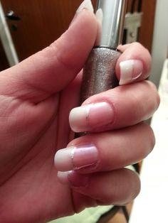 French manicure. My Nails, Manicure, Nail Polish, Nail Art, French, Beauty, Nail Bar, Nails, French People