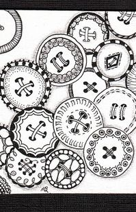 Free Print Zentangle Patterns | Oooh, Button Zentangles