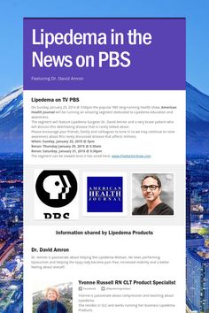 Help spread the word about Lipedema in the News on PBS. Please share! :)