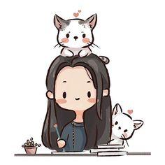 Cute Easy Drawings, Mini Drawings, Cartoon Drawings, Cute Art Styles, Cartoon Art Styles, Cute Cartoon Pictures, Character Design Animation, Cute Chibi, Cute Cartoon Wallpapers