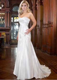Strapless wedding dresses satin and wedding dressses on pinterest