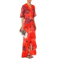 Roberto Cavalli   Animal-Print Silk Dress  mytheresa