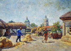 Courtyard in the village Mikhailovskaya by @ilyamashkov #impressionism