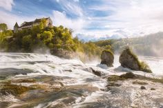 The Rhine Falls Beautiful Photography Plants & Nature Waterscapes