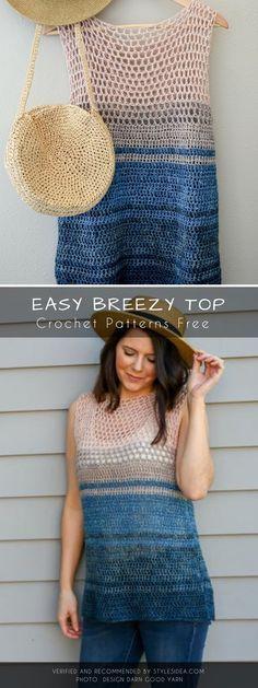 Top Summer Tops Tunics Crochet Patterns