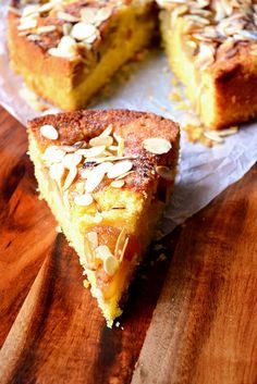 Pear and Almond #Cake Recipe - One of the easiest cakes you can make. The sponge is moist and flavoursome, helped along by the caramelised pears.