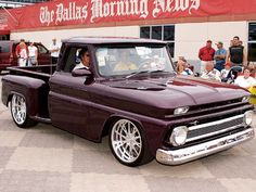 Oh MY!  Now this one is my color. 1964 Chevy stepside truck.