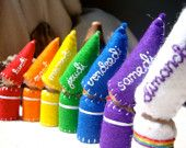 Autumn Sale  En Francais S'il Vous Plait Days of the Week Rainbow Gnomes Waldorf Inspired