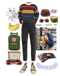 """Untitled #960"" by blvckcreature ❤ liked on Polyvore featuring RE/DONE, Converse, Fjällräven, LIST and Crosley"