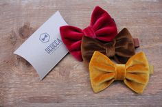 Scocca Papillon - velluto - 100% tessuto vintage - manifattura sartoriale - made in italy - #bowtie #vintage #velvet #packaging #craft #colorful #colors #etsy