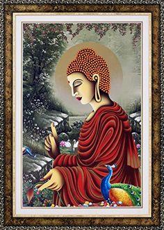 Avercart Lord Buddha / Gautam Buddha Poster 12x18 inch wi…