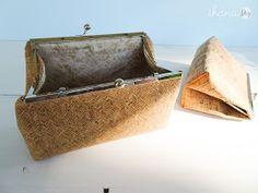Ihana: Ompele kukkarokehyslaukku korkkikankaasta Purses, Diy, Bags, Ideas, Coin Purses, Handbags, Handbags, Bricolage, Dime Bags