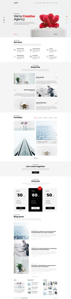 Webr - Clean minimal Creative Psd Template by WebrCreativeAgency | ThemeForest