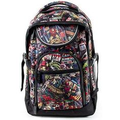 Marvel Comics: Backpack / Rucksack - New & Official Marvel Merchandise With Tags Super Hero shirts, Gadgets & Accessories, Leggings, lovers Marvel Shoes, Marvel Clothes, Marvel Backpack, Marvel Fashion, Moda Pop, Avengers Outfits, Super Hero Outfits, Cool Backpacks, Rucksack Backpack