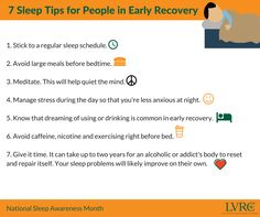 7 Sleep Tips for People in Early Recovery.