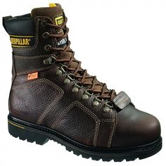 Dedicated Leather Safety Work Boots Lightweight Comfort Steel Toe Womens Caterpillar Tan Business & Industrial