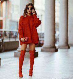 Moda Fashion Street Chic Style Sweaters New Ideas Winter Fashion Outfits, Look Fashion, Autumn Winter Fashion, Womens Fashion, Fashion Trends, Runway Fashion, Fashion Shoes, Girl Fashion, Fashion Tips