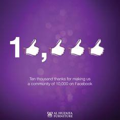 Thanks for making us a community of 10,000 on Facebook #alhuzaifa #facebook #dubai #abudhabi #MyDubai #facebookfans