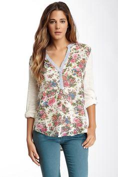 Floral Stripe Slub Shirt on HauteLook