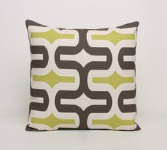Throw Pillow Covers Brown Green Cream by DimensionsHomeDecor