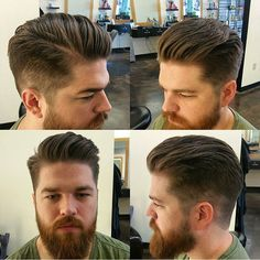 Hair for men. Hairstyles for men. Barber Shop Haircuts, Haircuts For Men, Cool Hairstyles, Men's Haircuts, Haircut Style, Style Hair, Men's Style, Hair And Beard Styles, Hair Styles