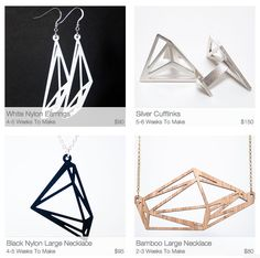 Some of the amazing pieces people have made with http://meshu.io / make your own unique jewelry!