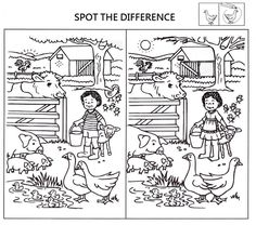 spot the difference worksheets for kids coloring pages printable and coloring book to print for free. Find more coloring pages online for kids and adults of spot the difference worksheets for kids coloring pages to print. Spot The Difference Printable, Spot The Difference Puzzle, Preschool Worksheets, Preschool Activities, Picnic Activities, Coloring Pages For Kids, Coloring Books, Kids Coloring, Find The Difference Pictures