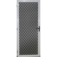 Protector Aluminium 808 x 2070mm White Adjustable Barrier Door  sc 1 st  Pinterest & I remember security doors and windows in public schools with wire ...