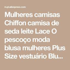 Mulheres camisas Chiffon camisa de seda leite Lace O pescoço moda blusa mulheres Plus Size vestuário Blusas Feminina blusa de renda verão Loja Online | aliexpress móvel