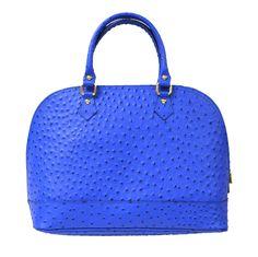 Caracol - Inspired Jewelry and Handbags - Italian Calfskin Leather Ostrich Print Handbag by Moda Italian Leather Handbags, Leather Bags, Stylish Handbags, How To Make Handbags, Saddles, Purses, Men, Inspired, Jewelry