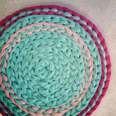 Crochet rug inspiration.