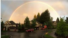 West Lynn Oregon  double rainbow