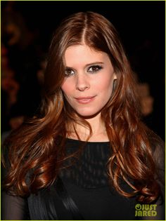 So love this hair color.  Kate Mara.