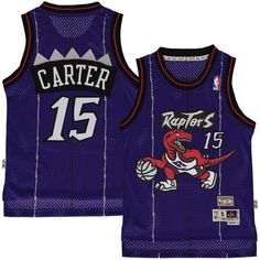 a725af50cfe Vince Carter Toronto Raptors Mitchell   Ness Youth Hardwood Classics Swingman  Jersey – Purple