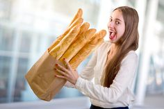 PsBattle: This Lady and Her Bundle of Baguettes