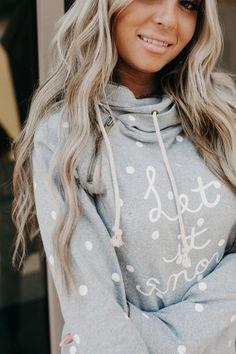 DoubleHood™ Sweatshirt - Let it Snow – Mindy Mae's Market
