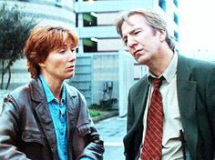 """""""It's been sort of accidental but I think we're a good team."""" — Alan Rickman on working with Emma Thompson Gif"""