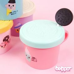 Cute Girlwill Cup with Spoon - Small - Cups & Mugs - Home & Deco - Other Products | Blippo.com - Japan & Kawaii Shop