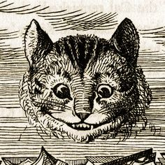 """The Cheshire cat"" - Illustration by Sir John Tenniel (1820-1914) for ""Alice in Wonderland (1865-6)"