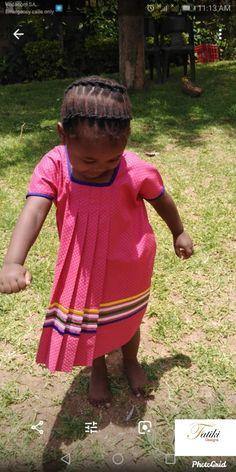 by Fatiki designs Pedi Traditional Attire, Sepedi Traditional Dresses, African Traditional Wear, Traditional Fashion, Wedding Dresses South Africa, Style Fashion, Kids Fashion, Shweshwe Dresses, African Fashion Dresses