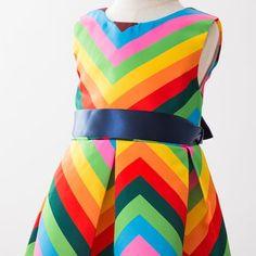 Newill Maedchen aermellos Kleid Rock Sommer Kostueme Hochzeit Festzug Spitze Prinzessin Partei Kleidung Baumwolle mit Satin Bunt Regenbogen 110 (4-5 Jahre Alt)