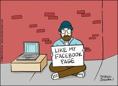 Want more Facebook fans? This Sunday Comic shows one offline tactic.
