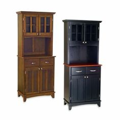 Home Styles Cherry Wood Top Small Buffet/Server with Hutch - BedBathandBeyond.com